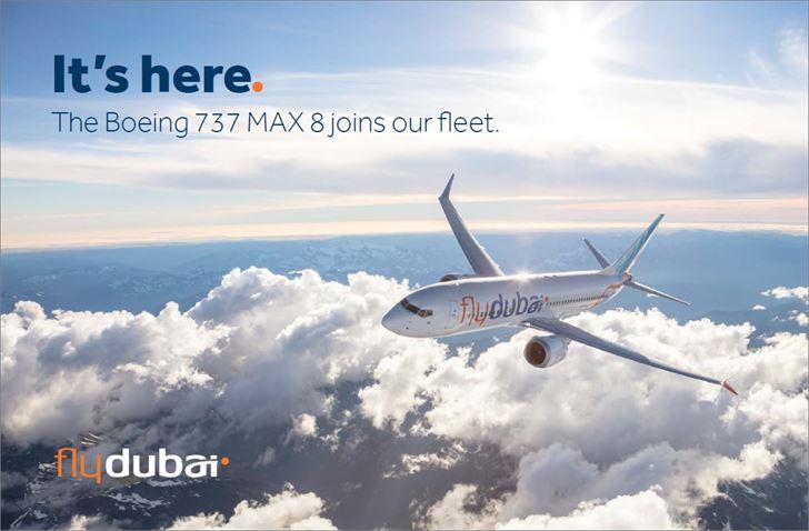 """فلاي دبي تعرض في """"دبي للطيران"""" أولى طائراتها من 737 ماكس 8"""