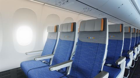 بوينغ 737 ماكس 8 - مقاعد الدرجة السياحية