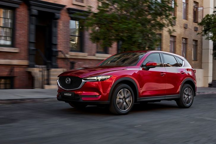 Mazda CX-5, the All-New Car, in Dubai Motor Show 2017