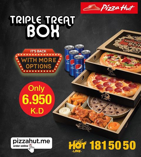 Pizza Hut Triple Treat Box Offer