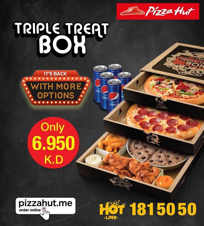 Pizza Hut Triple Treat Box Offer