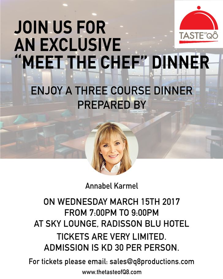 "An Exclusive ""Meet The Chef"" Dinner - by Annabel Karmel"