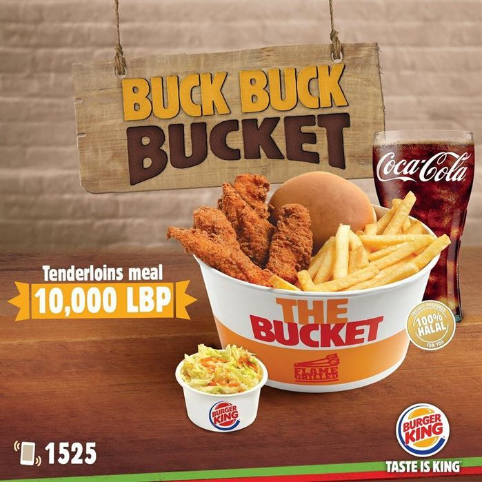 Burger King Lebanon Tenderloins Meal Bucket Offer