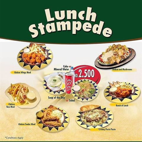 Buffalo's Restaurant Lunch Stampede Offer