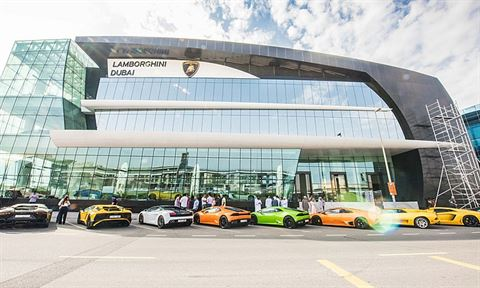 World's largest Lamborghini showroom opens in Dubai