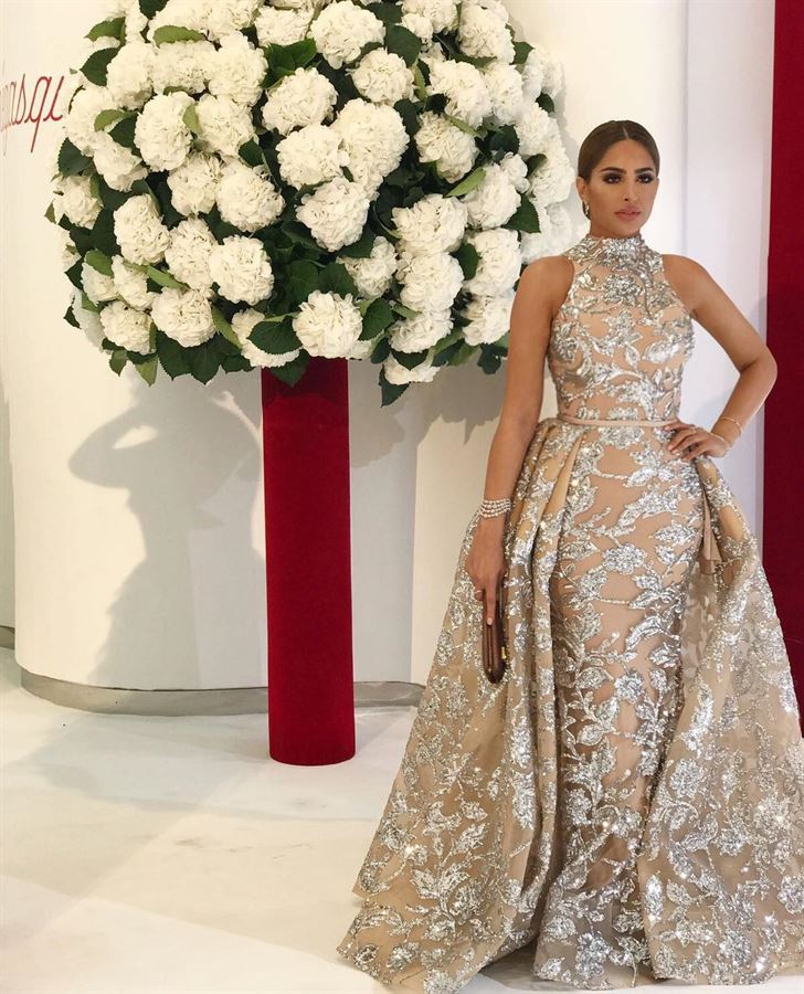 Stunning Fouz Al Fahad at Red Cross Gala in Monte Carlo