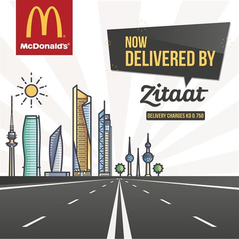 McDonald's is now delivered to you Exclusively by Zitaat