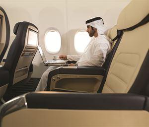 مقعد درجة رجال الأعمال في فلاي دبي
