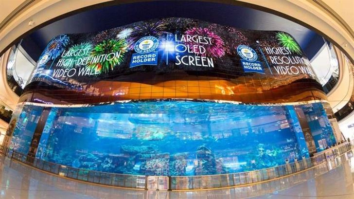 New OLED screen at Dubai Aquarium breaks Guinness World Record