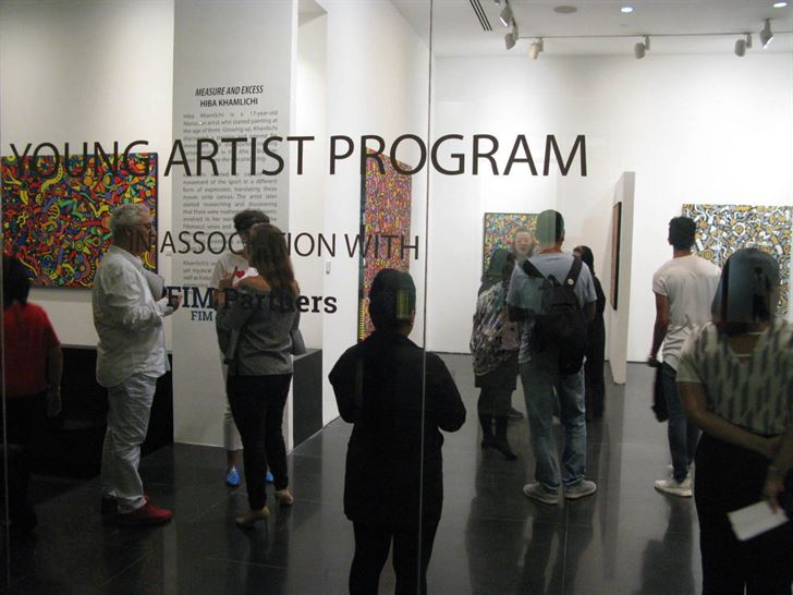 The exhibition is part of the ArtSpace program for young artists