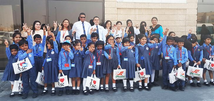 TSC Welcomes the Kids of Jack and Jill Bhavan's Nursery School in Mangaf Wholesale Branch