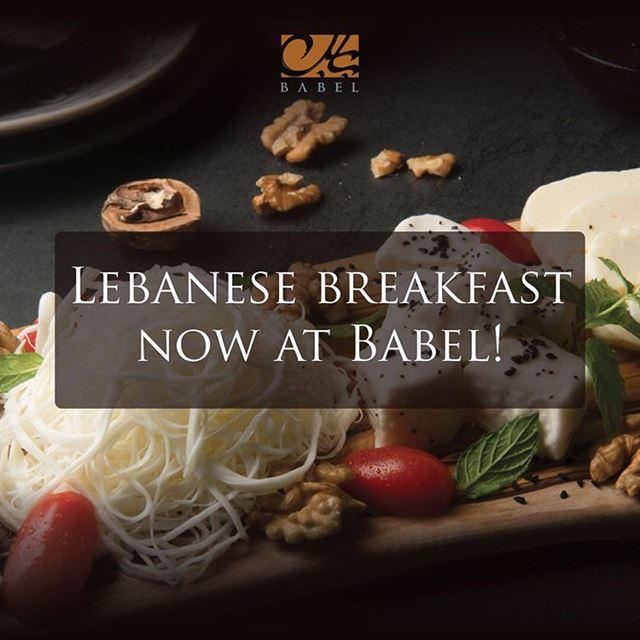 Babel Lebanese Restaurant Launches Breakfast Menu