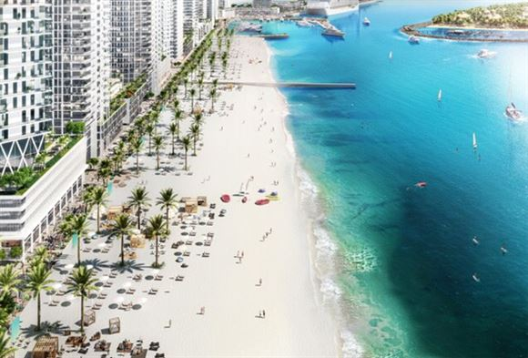 Emaar Beachfront ... a new private island set to bring Miami-style living to Dubai Marina