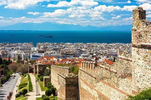 حطام سور البيزنطيين في ثيسالونيكي، اليونان