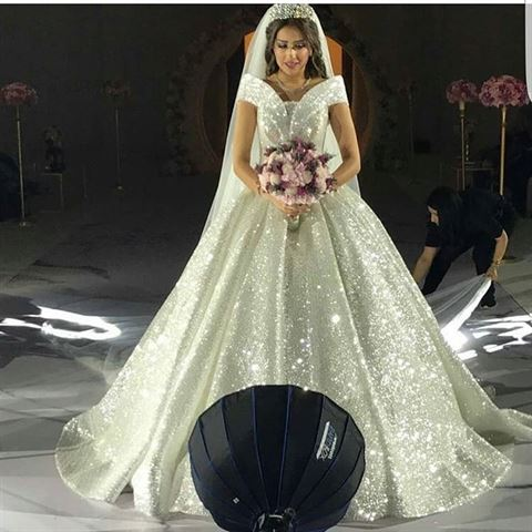 Actress Farah Al Hady Wedding Look Details