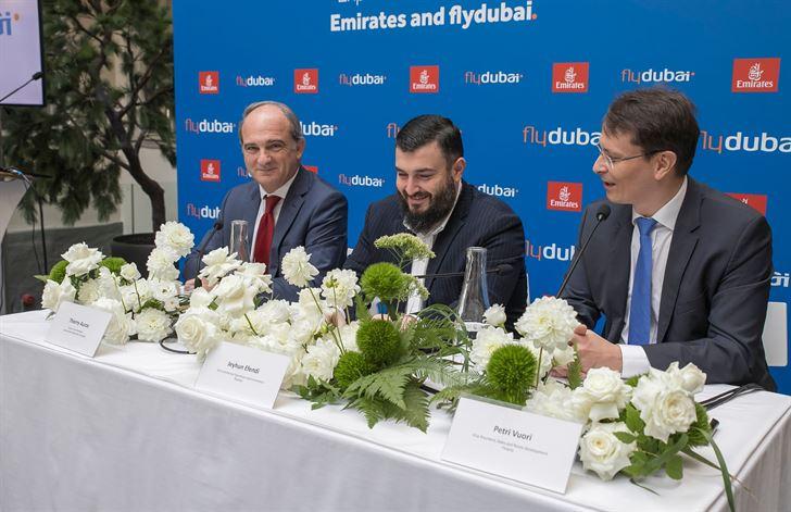 المؤتمر الصحفي لفلاي دبي بمناسبة بدء رحلاتها الى هلسنكي