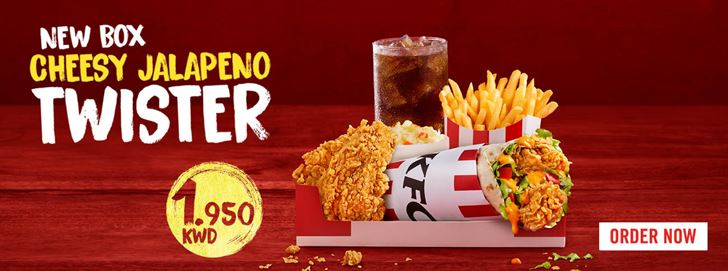 KFC New Cheese Jalapeno Twister Box