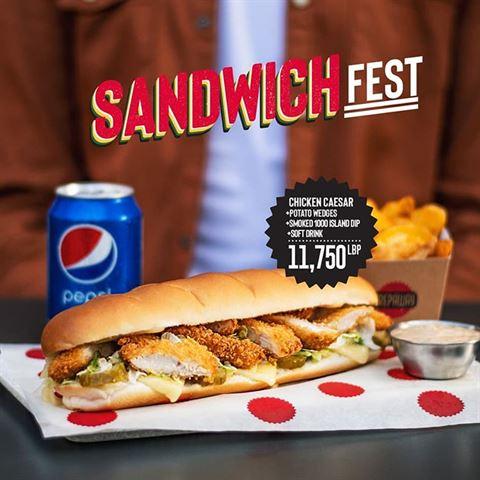 Crepaway Restaurant Lebanon Sandwich Fest Offer