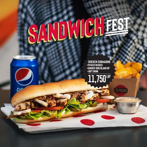 Crepaway Restaurant Lebanon Sandwich Fest Offer