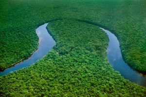 Congo River: the world's deepest river with measured depths in excess of 220 m.