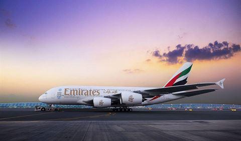 مطار بيروت يستقبل لأول مرة في تاريخه طائرة الإمارات الإيرباص A380 يوم 29 آذار 2018
