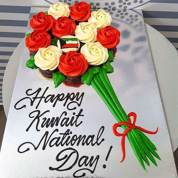 أجمل قوالب حلوى العيد الوطني والتحرير في الكويت للعام 2018