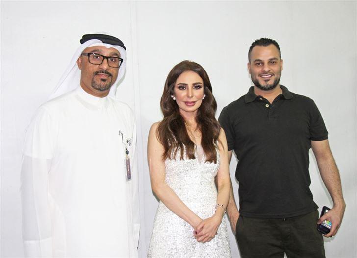 الفنان فيصل الجاسم والفنانة عريب حمدان بحفل فني في دبي