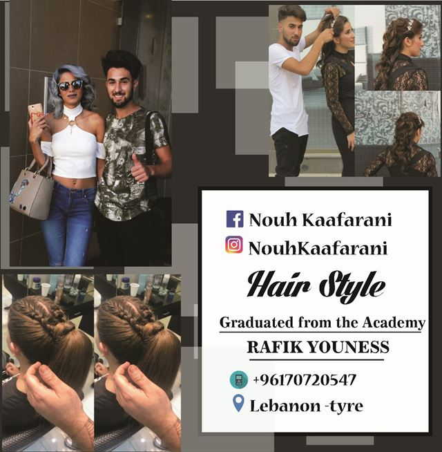 Great Hairstyles by Lebanese Hair Stylist Nouh Kaafarani
