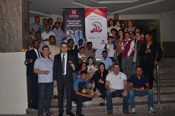 "Al Bustan Centre & Residence supports ""Earth Hour"""