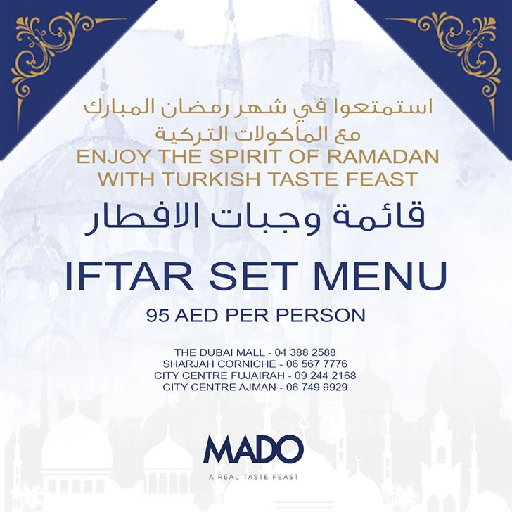 Mado Restaurant UAE Ramadan 2018 Iftar Offer