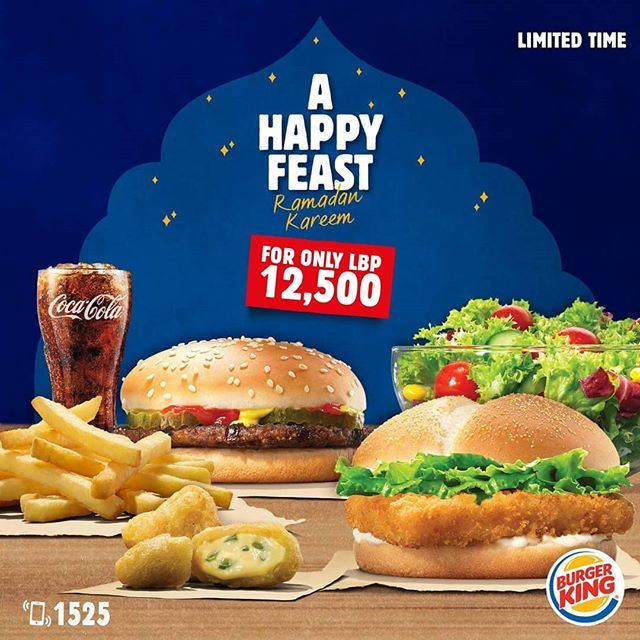 Burger King Lebanon Ramadan 2018 Iftar Offer
