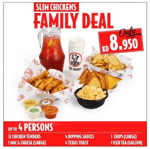 Slim Chickens Restaurant Ramadan 2018 Family Offers
