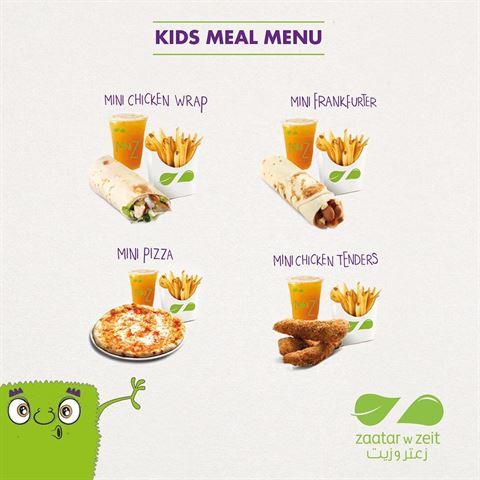 Zaatar W Zeit Kuwait Restaurant Kids Menu