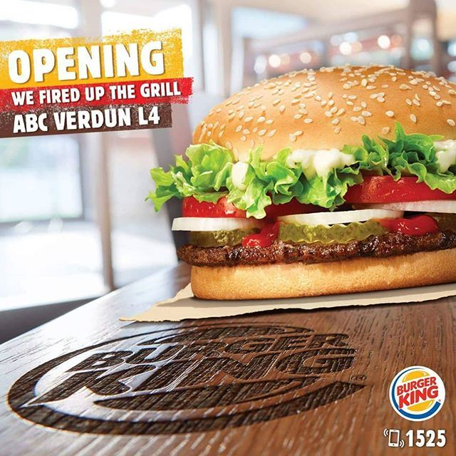 Burger King Restaurant Opened New Branch in ABC Verdun