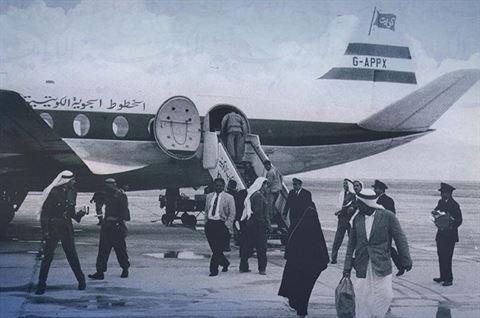 صورة من الماضي لطائرة الخطوط الجوية الكويتية