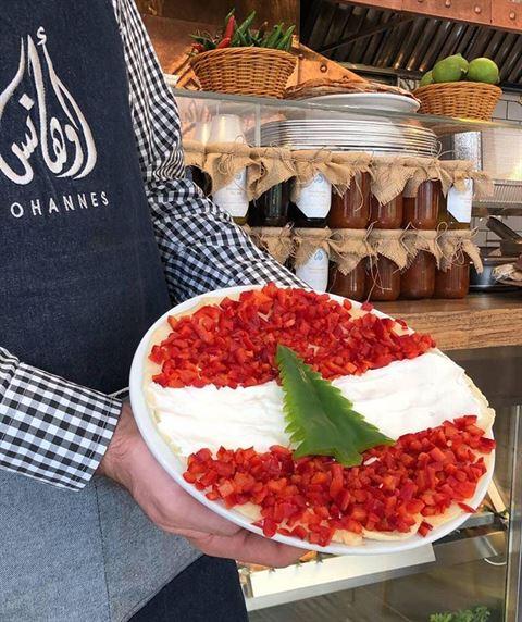 بالصور ... أطباق تحمل شكل وألوان العلم اللبناني