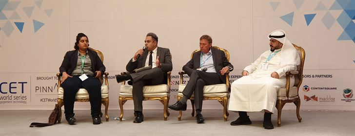 From Left to Right: - Amani Khalaf, Marketing Leader, Careem - Yusuf Jehangir, AGM - Head of Marketing and Products, Ahli Bank of Kuwait - Andrew Ward, VP - Marketing & Customer Experience, Jazeera Airways - Jafar Mousawi, CEO, SquareMedia
