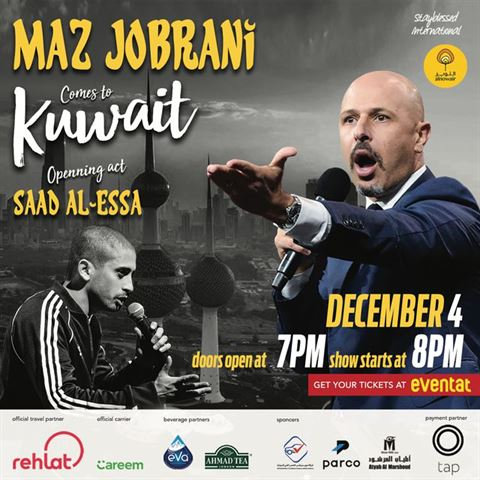 Maz Jobrani in Kuwait on the 4th of December 2019