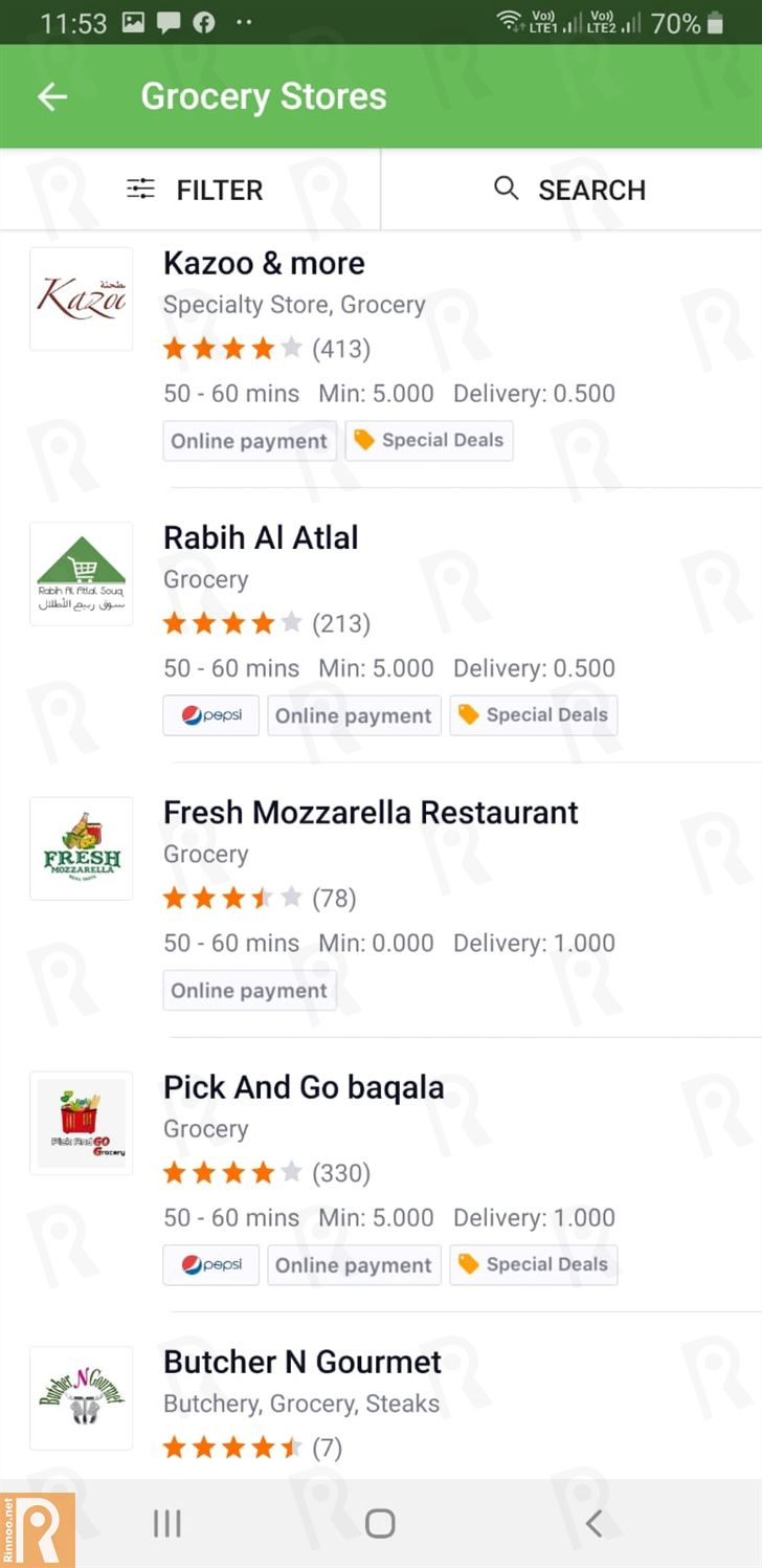 What can you order from Talabat in Kuwait?