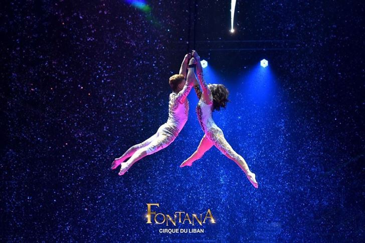 إنطلاق عرض Fontana الرائع الذي ينظمه Cirque du Liban في واجهة بيروت البحرية