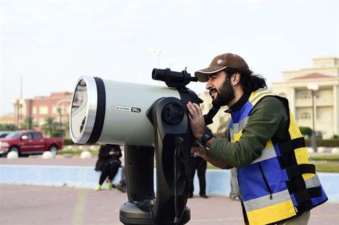 النادي العلمي يرصد الكسوف الجزئي للشمس