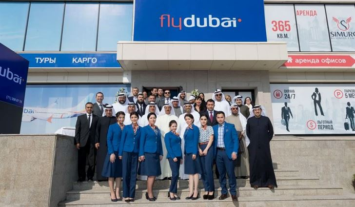 فلاي دبي تدشن خدماتها الى اوربكستان برحلتها الافتتاحية الى طشقند