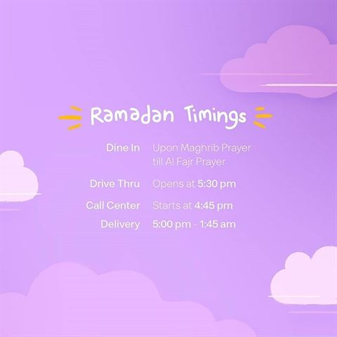 McDonald's Kuwait Ramadan 2019 Timings