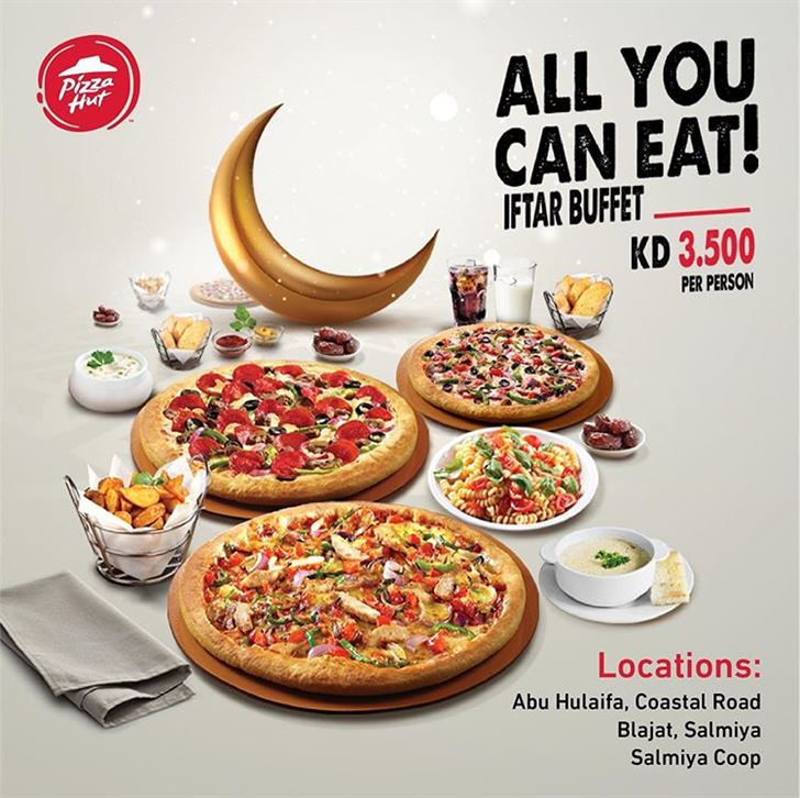 Pizza Hut Restaurant Iftar Buffet during Ramadan 2019