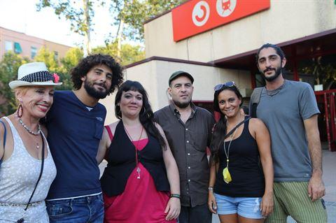 فريق فيلم المسرحية في مدريد