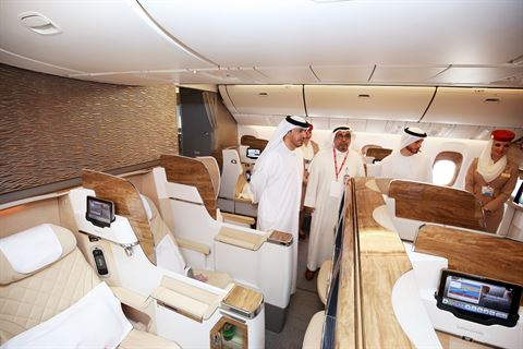 Emirates unveils its 'Gamechanger' Boeing 777 in Kuwait