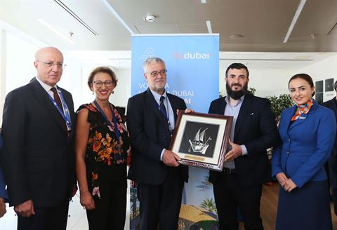 flydubai's inaugural flight lands in Naples, Italy
