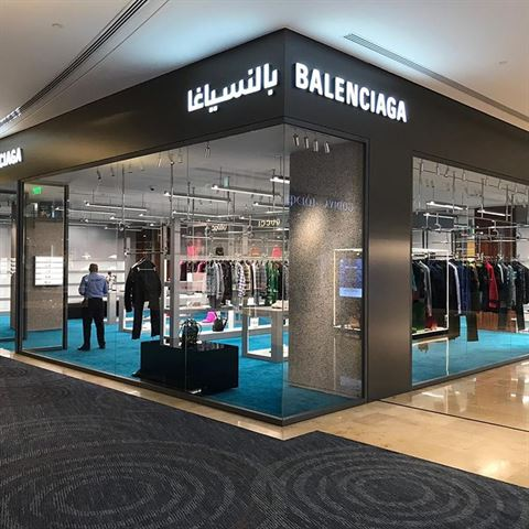 افتتاح متجر بالنسياغا في مجمع 360 مول