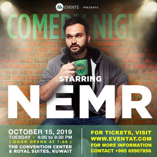 Lebanese Comedian Nemr in Kuwait on October 15 2019