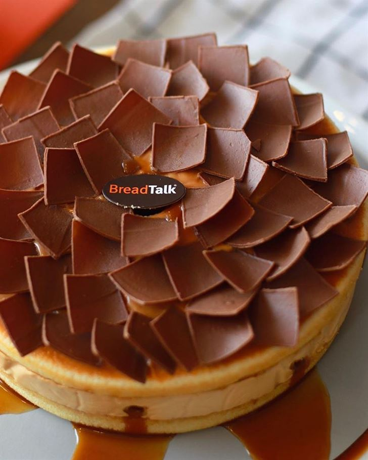 New Caramel Leak Cake at BreadTalk